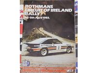 ULSTER RALLY PROGRAMMES 1983