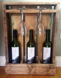 Rustic Wine Rack/Box Made From Reclaimed Wood