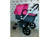 Beautiful bugaboo cameleon 3 pink or blue or black with maxi cosi car seat