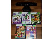 Kinect with the stand in excellent condition + 5 kinect games