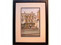 Original Watercolour Painting CROWN BAR, BELFAST by Irish Artist STEPHEN MCCLEAN