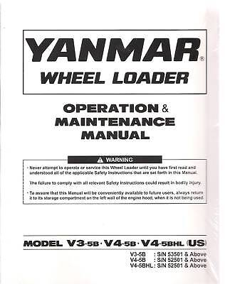 Yanmar V3-5bv4-5bv4-5bhl Loader Operators Manual