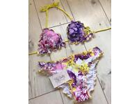 Floral print bikini from Bliss Intimates size 6/8