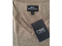 Latest boys slimline smart Next jumper in light brown skin colour, size XS,costs £49.95,bargain £20