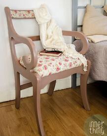 Flowery Bedroom Chair