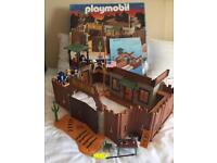 Playmobil 3023 fort eagle boxed western US civil war rare play set cowboys horse lego toy