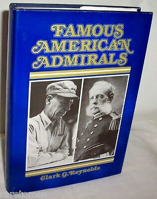 Famous American Admirals By Reynolds Hc 1978 United States Navy Usn Officers