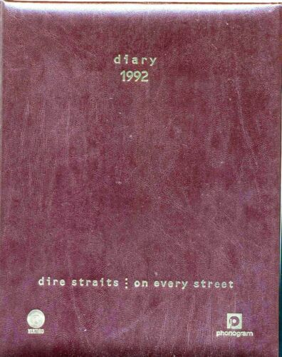 DIRE STRAITS - ON EVERY STREET - DIARY 1992 AGENDA - NEW