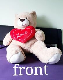 Giant love heart pillow teddy bear. 60 inches. Great for any occasion.