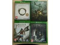 XBOX ONE Games Bundle Assasins Creed Dishonored Elder Scrolls