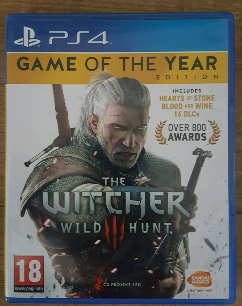 PS4 Witcher III Wild hunt game of the year edition