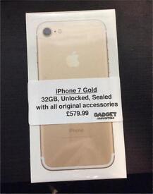 iPhone 7 Gold 32GB Unlocked *BOXED & SEALED*
