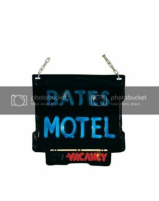 Scary BATES MOTEL No Vacancy Electric Light Up Sign