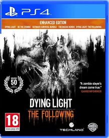 PS4 DYING LIGHT THE FOLLOWING ONLY USED ONCE FROM NEW
