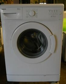 Beko WM5100 washing machine 1000spin 5kg recon motor new door seal 48cm deep Front slightlyoff white