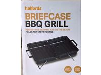 Brand new Halfords Briefcase BBQ Grill