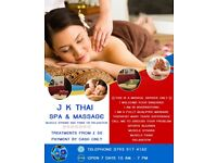 J K THAI MASSAGE. MUSCLE STRAINS AND PAINS OR RELAXATION
