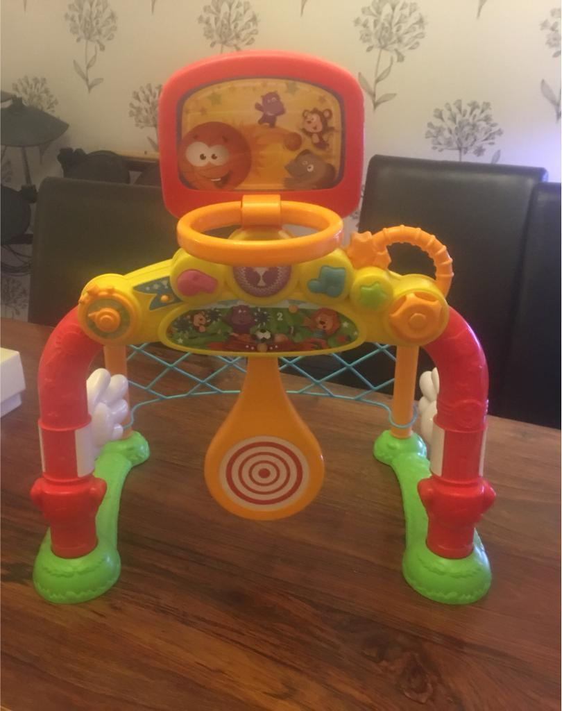 Toy goal and hoop