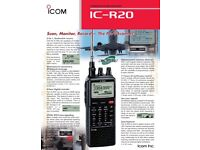 IC R20 Receiver .... purchased from Radio World 2 weeks ago.