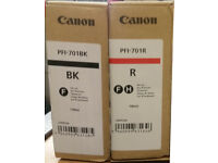 Genuine Canon PFI-701BK / R Lucia Ink Cartridge 700ml