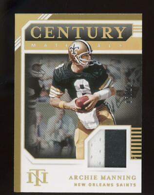 2020 National Treasures Gold Century Materials Archie Manning 5/10 Patch Jersey