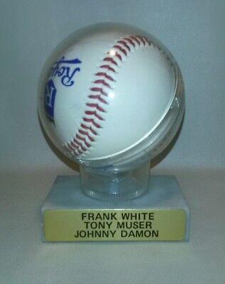 (☆ RARE FRANK WHITE ~ TONY MUSER ~ JOHNNY DAMON AUTOGRAPHED BASEBALL ROYALS)