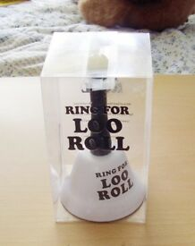 Ring for Loo Roll Joke bell and two other joke loo signs. Price is for all three items.