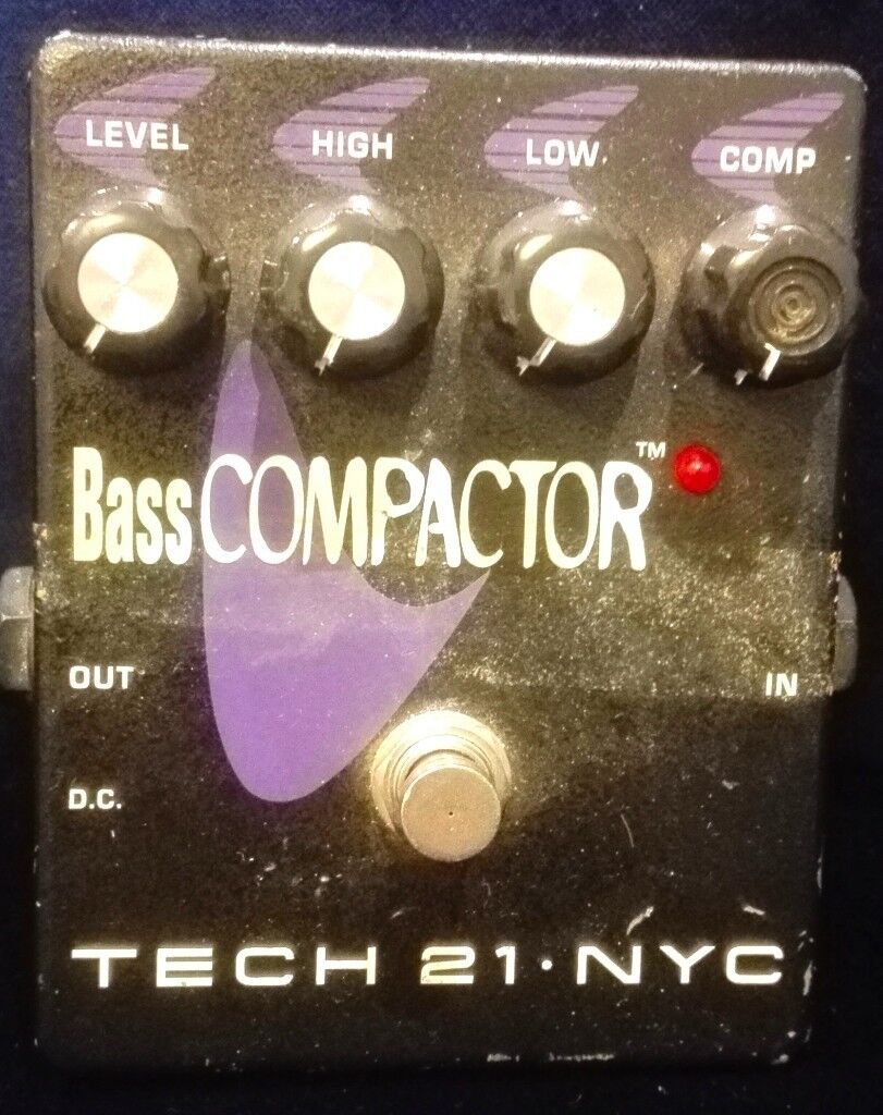 Tech 21 Bass Compactor pedal handmade in the USA