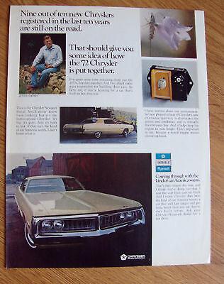 1972 Chrysler Newport Royal Ad Arthur Godfrey