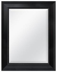 NEW MCS Black Grooved Beveled Rectangular Wall Mirror, 21-Inch by 27-Inch