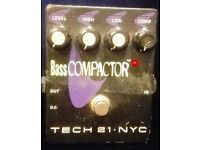 Tech 21 Bass Compressor pedal *USA*