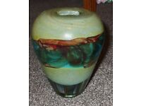 Mdina Maltese Glass Conical Shaped Green, Blue and Red Colourful Sand Vase