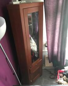 Dark wooden corner unit - offers