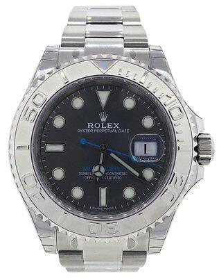 ROLEX Yacht-Master 40mm 116622 Dark Rhodium Blue Hand Steel & Platinum