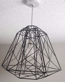 Black Metal Wire Geo Easy Fit Light Lamp Shade
