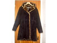 Ladies Suede and Faux Fur Coat by Denis Basso