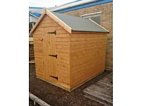 SPECIAL OFFER 8 X 6 SHED - DELIVERED, TREATED AND ASSEMBLED