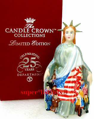 Dept. 56 Candle Crown LADY LIBERTY 25th Anniversary Ltd 865/5,600 Candle Snuffer