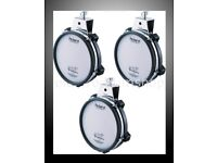 """3 PACK Roland V Drums PD-85 Electronic 8"""" TOM / SNARE Dual Trigger Mesh pads"""