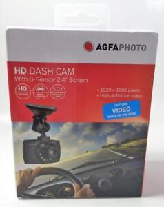 AGFA 1080p Dash Cam With G-Sensor 2.4 Screen and 8GB MicroSD Card