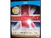 Blu-ray disc of Chariots of Fire film autographed by Nigel Havers
