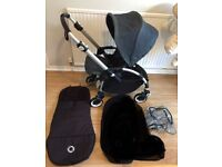 Bugaboo Bee limited Edition Denim 107 with Footmuff