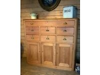 Large Victorian Pine Kitchen/Dining Room Press