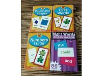 246 FLASH CARDS, FIRST WORDS, SIGHT WORDS, COLOURS AND SHAPES, NUMBERS