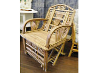 FANTASTIC HAND BUILT CANE GARDEN/CONSERVATORY ARM CHAIRS - WE CAN DELIVER