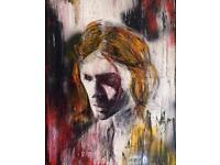 Kurt Cobain portrait 'despair' canvas