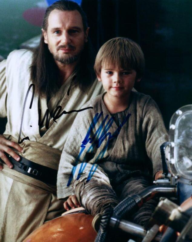 Liam Neeson Jake Lloyd signed 8x10 Photo with COA autographed Picture very nice