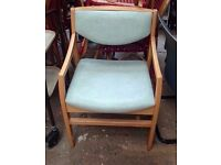 Wooden leather chair in excellent condition