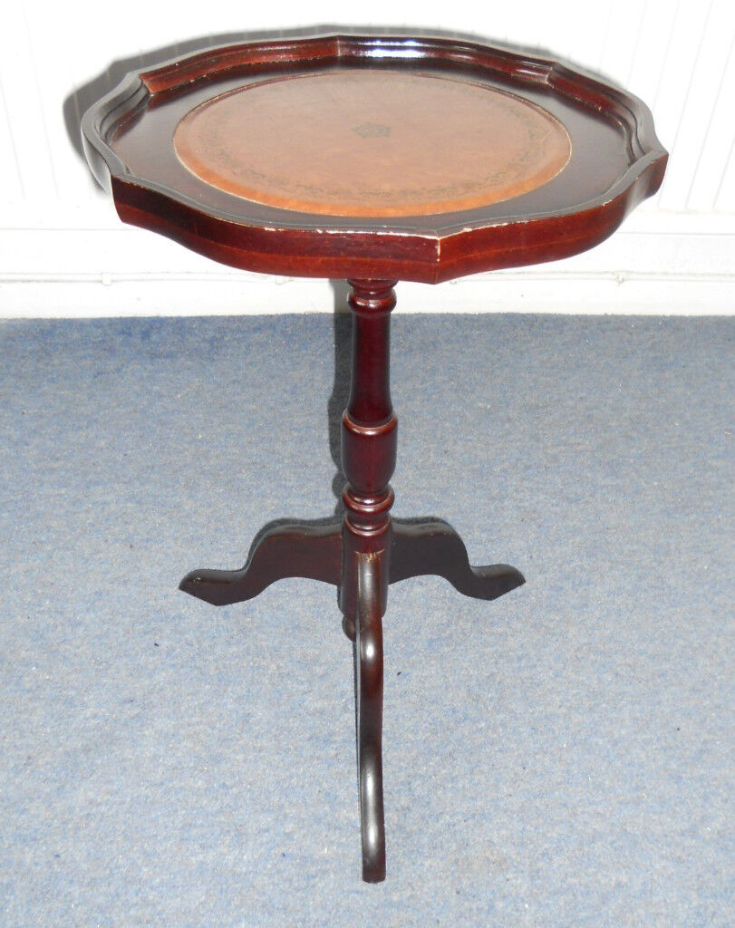 Mahogany Pie Crust Wine Table, Lamp Table