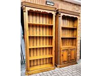 Large Solid Timber Bookcases - Vintage / Weathered style.